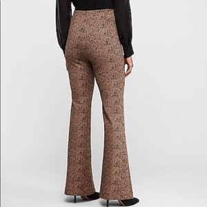 Express stretchy jacquard flare pants high waist